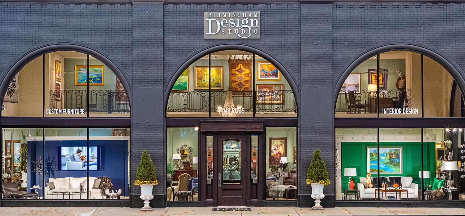Birmingham Design Studio High End Furniture Storefront Building on Old Woodward