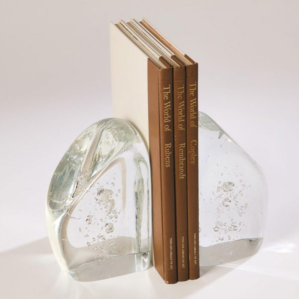 Glass Chunk Bookends