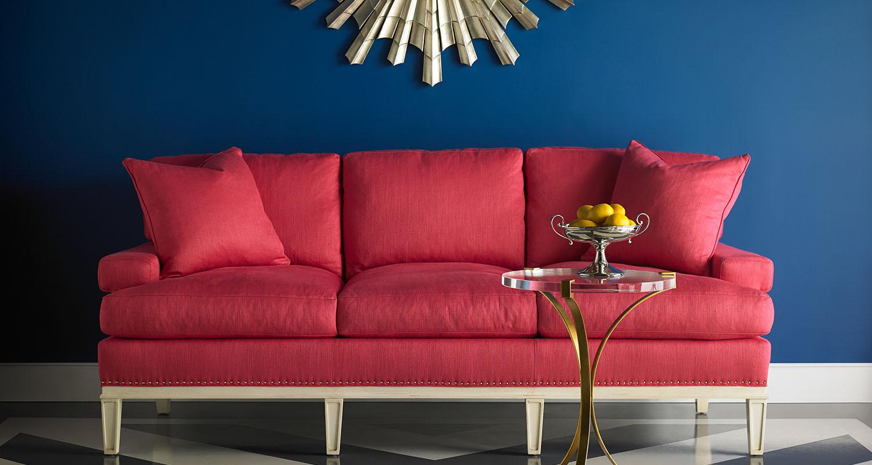 Read Couch Red Sofa Sherrill - Custom High Quality Furniture Store Birmingham Michigan