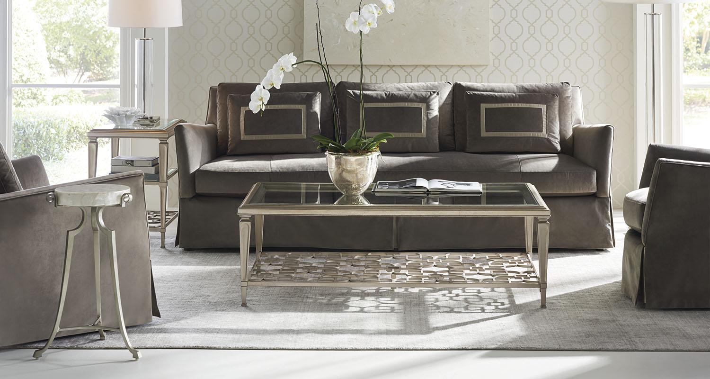 Caracole Sofa Taupe Tan Living Room Set - Custom High Quality Furniture Store Birmingham Michigan