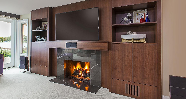 Interior Design Modern Fireplace