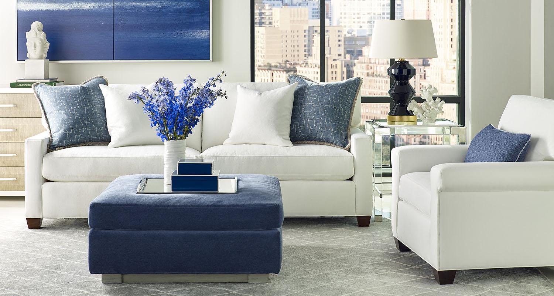 Sherrill White Sofa Set Couch Accent Chair - Custom High Quality Furniture Store Birmingham Michigan