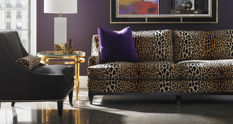 Sherrill Animal Print Leopard Print Sofa - Custom High Quality Furniture Store Birmingham Michigan
