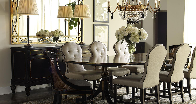 Sherrill Dining Room Table Seats 9 Solid Wood - Custom High Quality Furniture Store Birmingham Michigan