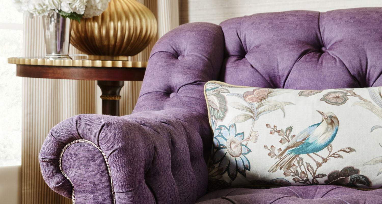 Theo Purple Couch Purple Sofa for Sale - Custom High Quality Furniture Store Birmingham Michigan