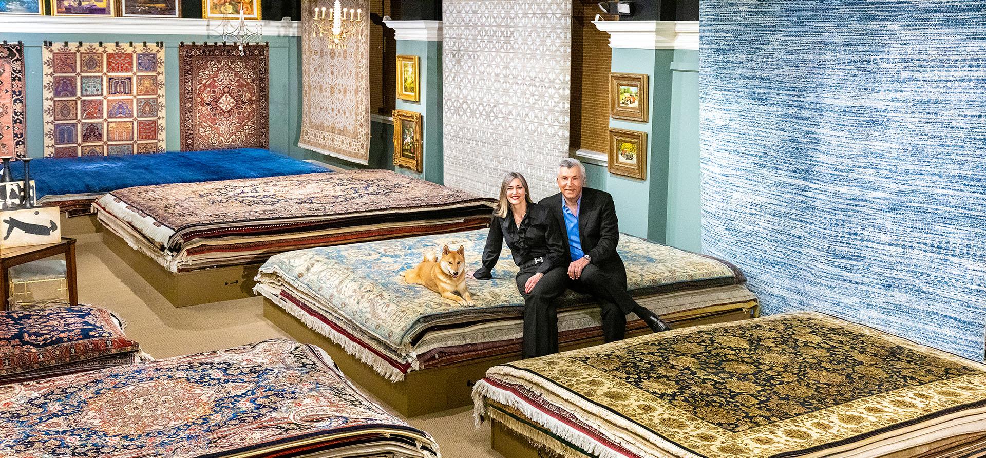 Birmingham Design Studio High End Oriental and Persian Rug Store Owners Kamran Karimpour and Kristi Karimpour